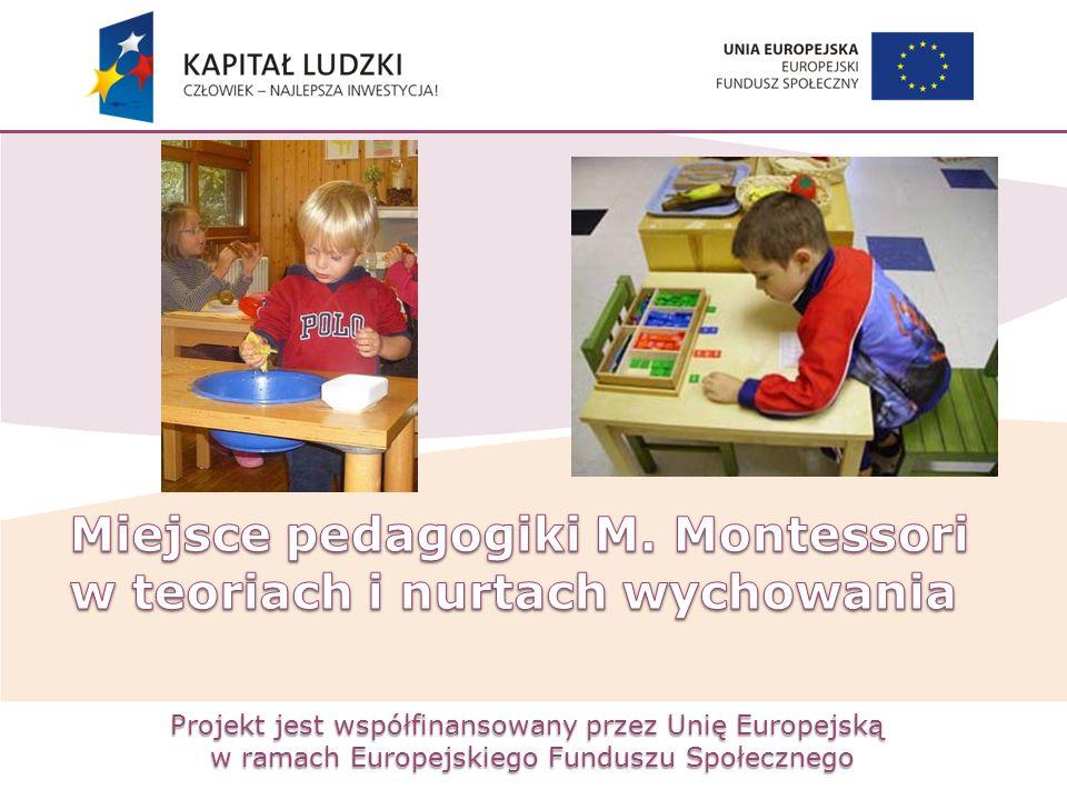 Miejsce pedagogiki M. Montessori w teoriach i nurtach wychowania