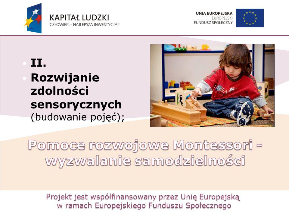 Pomoce rozwojowe Montessori -wyzwalanie samodzielności