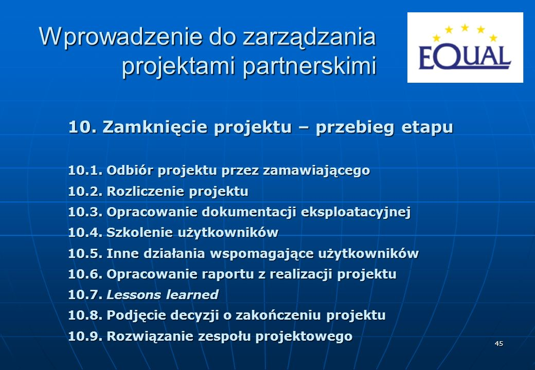Wprowadzenie do zarządzania projektami partnerskimi