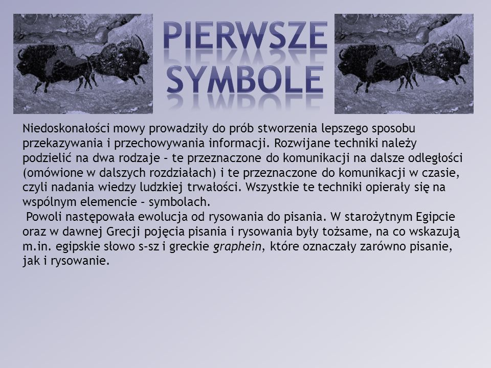 PIERWSZE SYMBOLE.