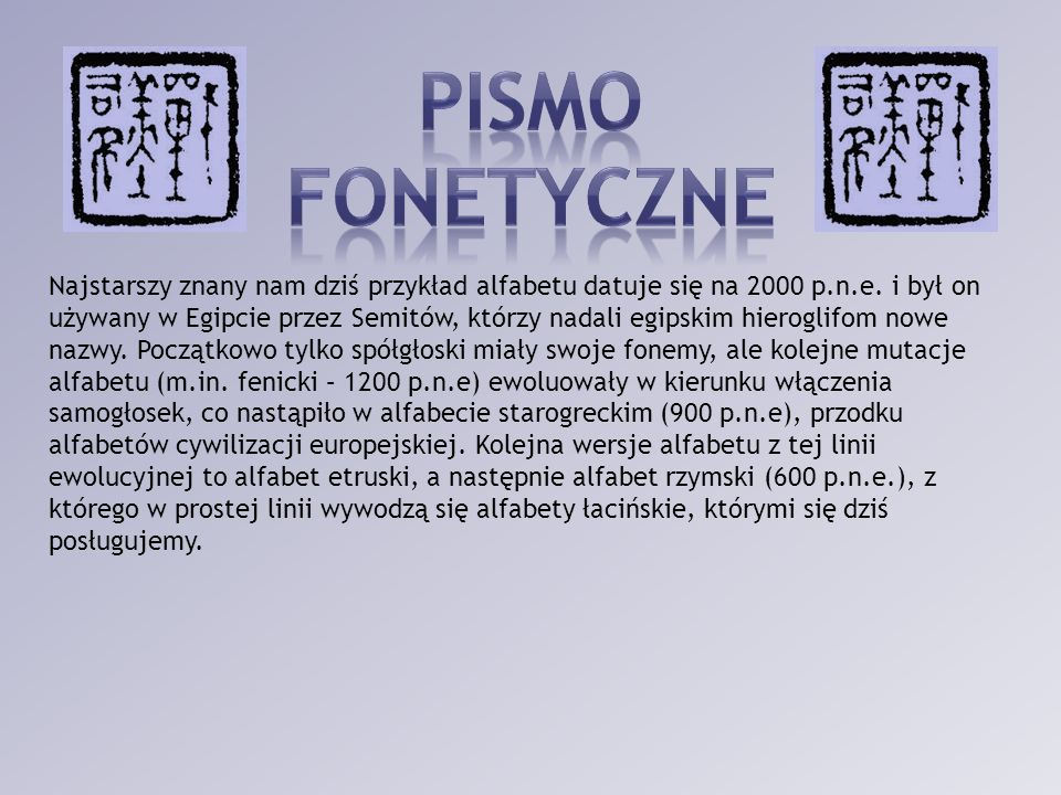 Pismo fonetyczne.