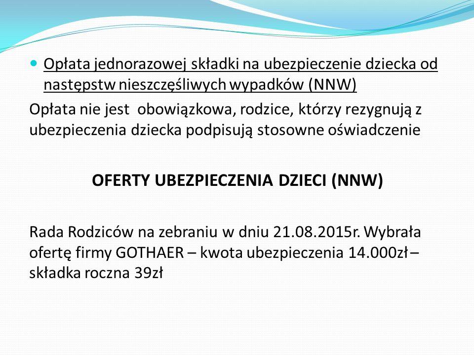 OFERTY UBEZPIECZENIA DZIECI (NNW)