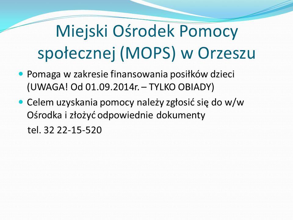 Miejski Ośrodek Pomocy społecznej (MOPS) w Orzeszu