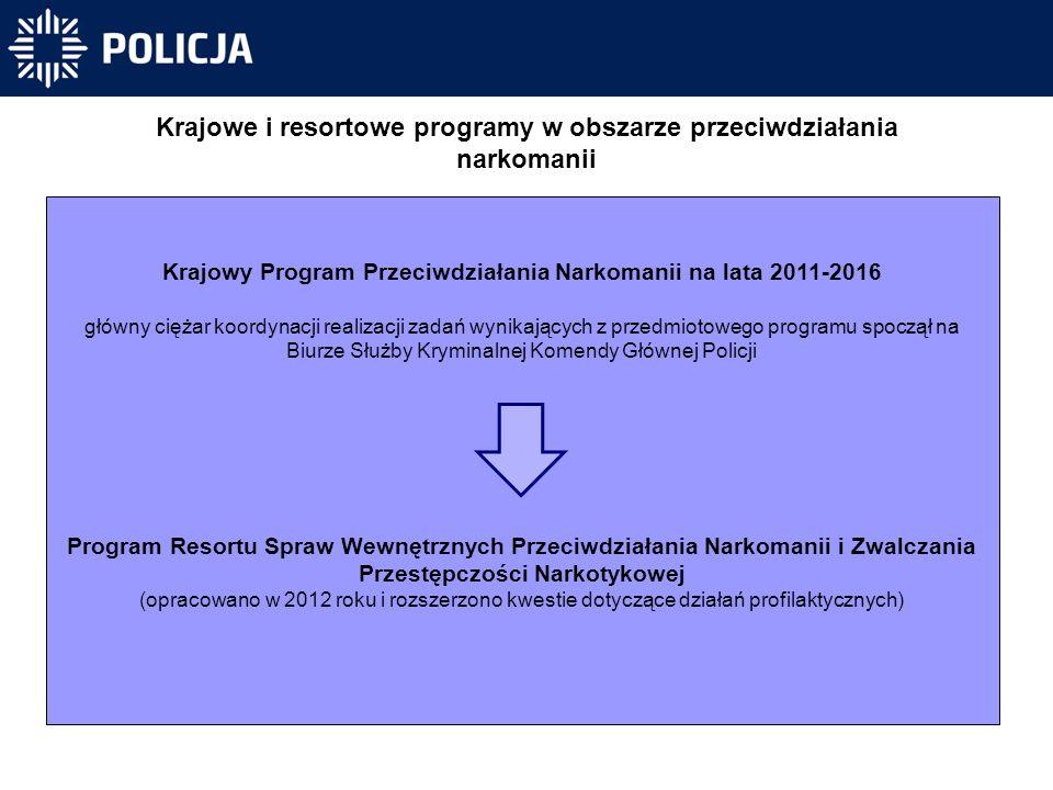 Krajowe i resortowe programy w obszarze przeciwdziałania narkomanii