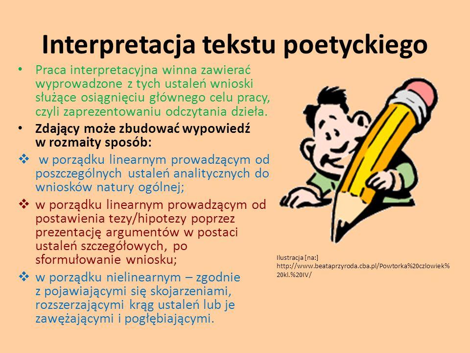 Interpretacja tekstu poetyckiego