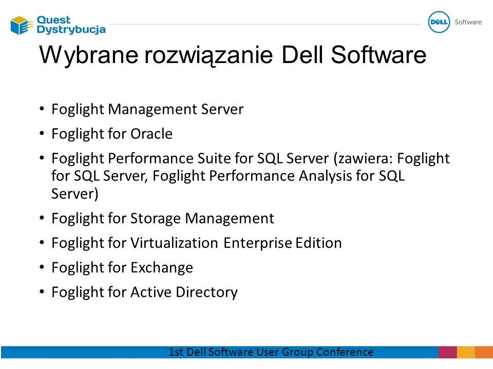Wybrane rozwiązanie Dell Software
