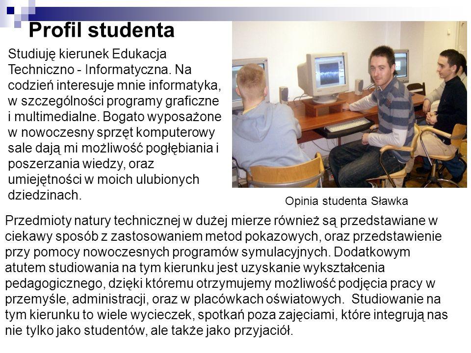 Opinia studenta Sławka
