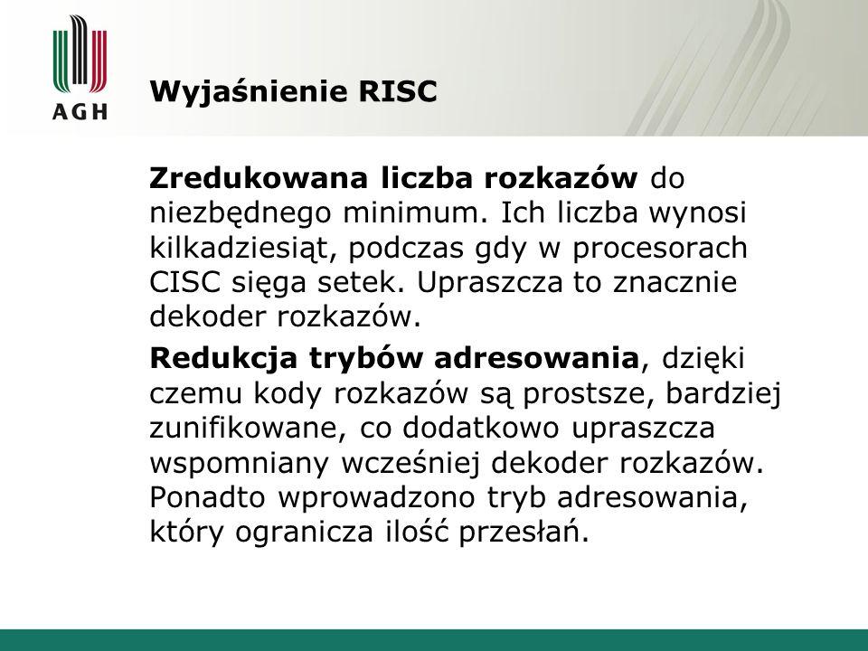 Wyjaśnienie RISC