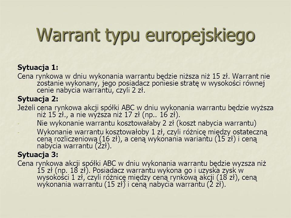 Warrant typu europejskiego