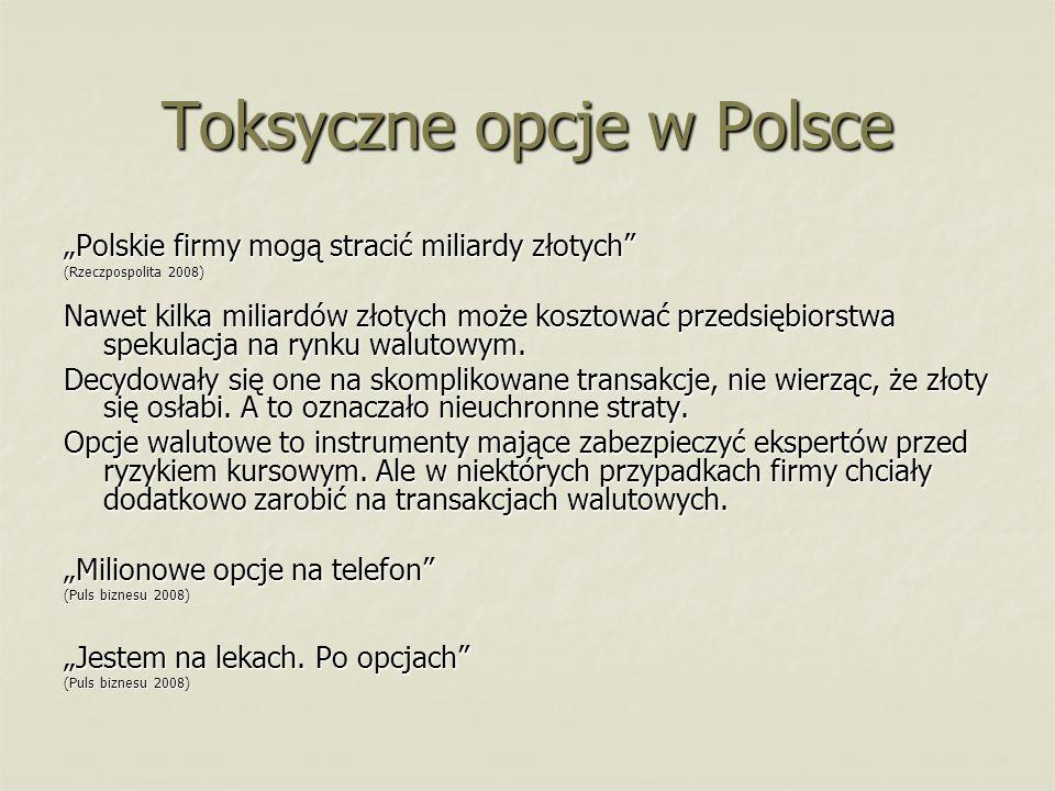 Toksyczne opcje w Polsce
