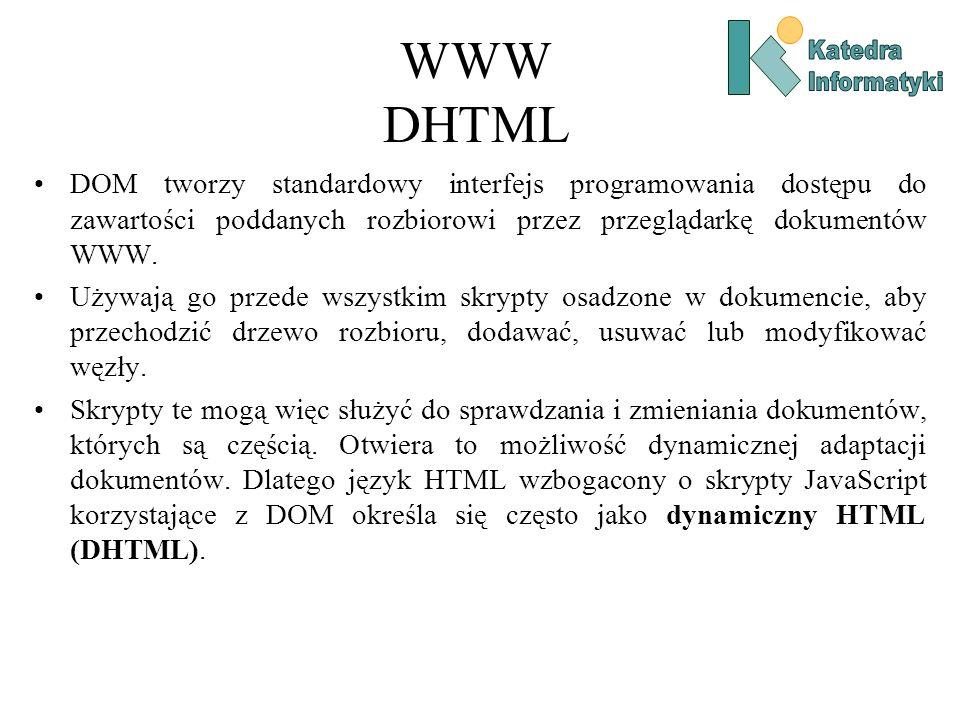 WWW DHTML Katedra. Informatyki.
