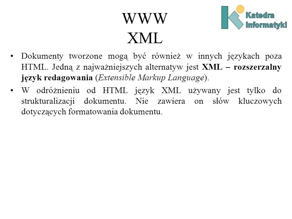 WWW XML Katedra. Informatyki.