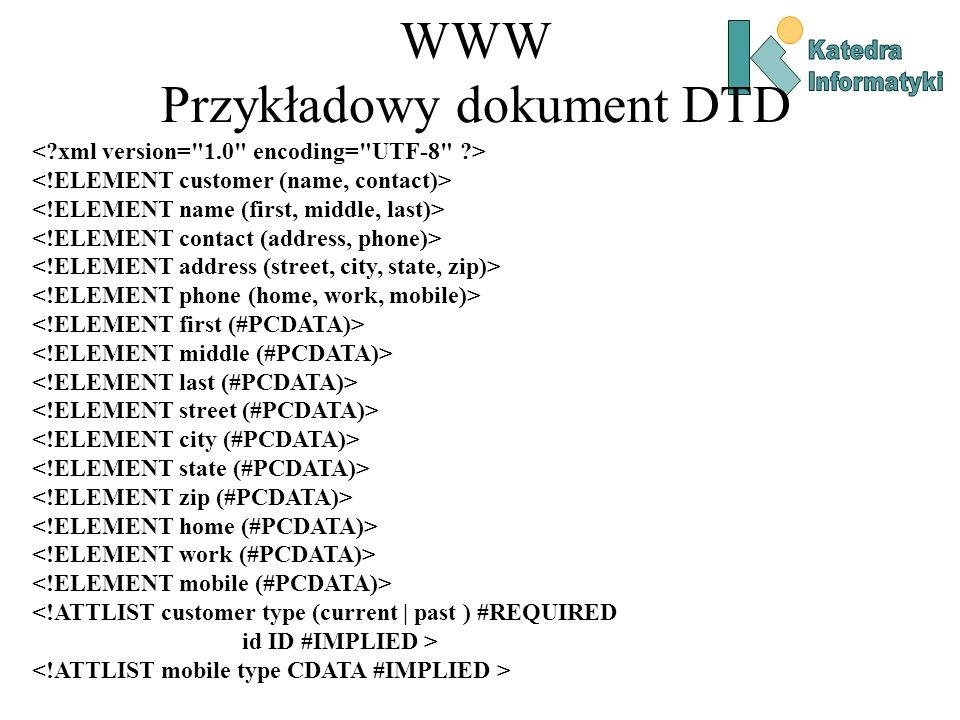 WWW Przykładowy dokument DTD