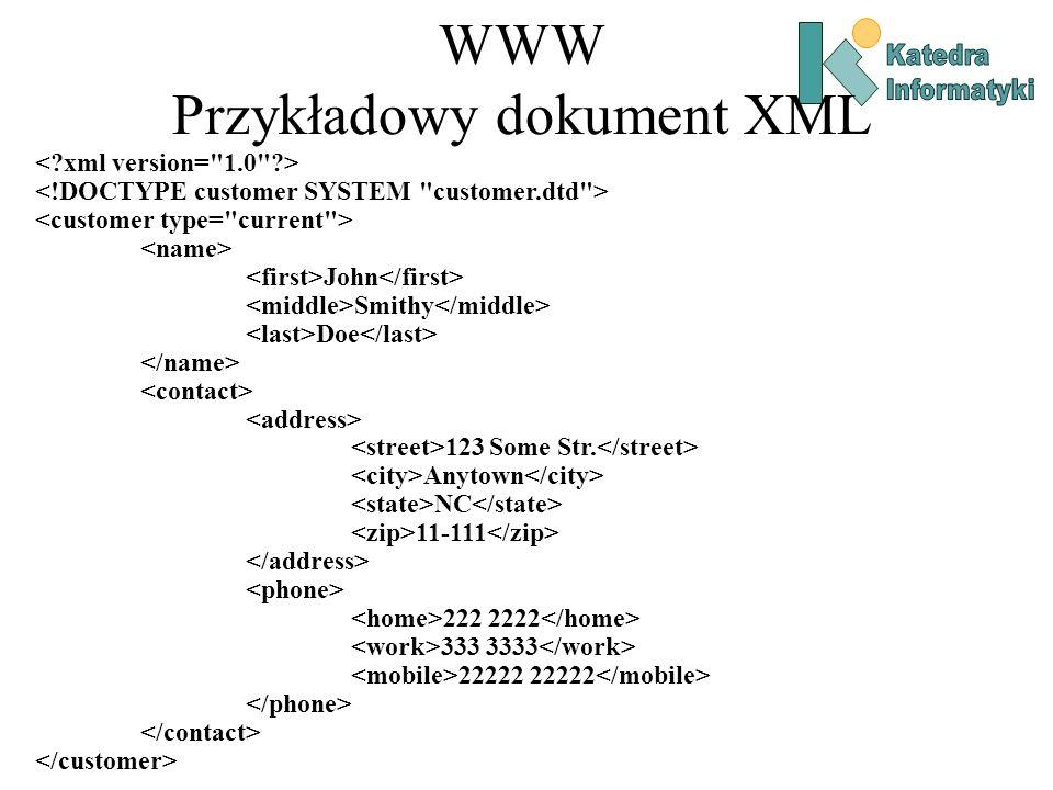 WWW Przykładowy dokument XML