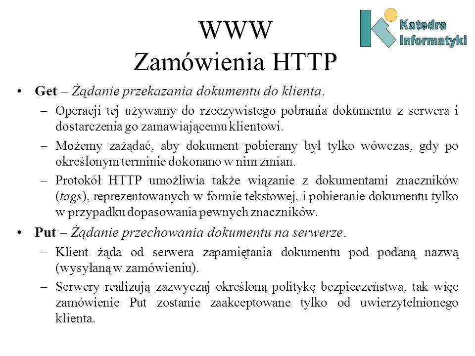 WWW Zamówienia HTTP Get – Żądanie przekazania dokumentu do klienta.
