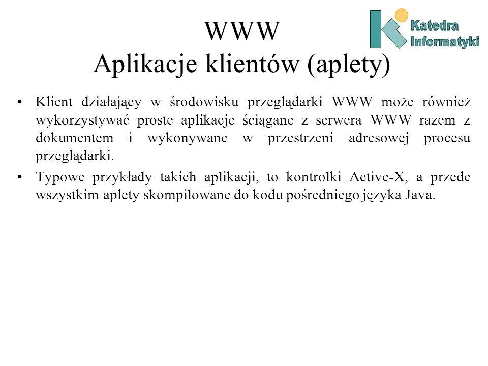 WWW Aplikacje klientów (aplety)