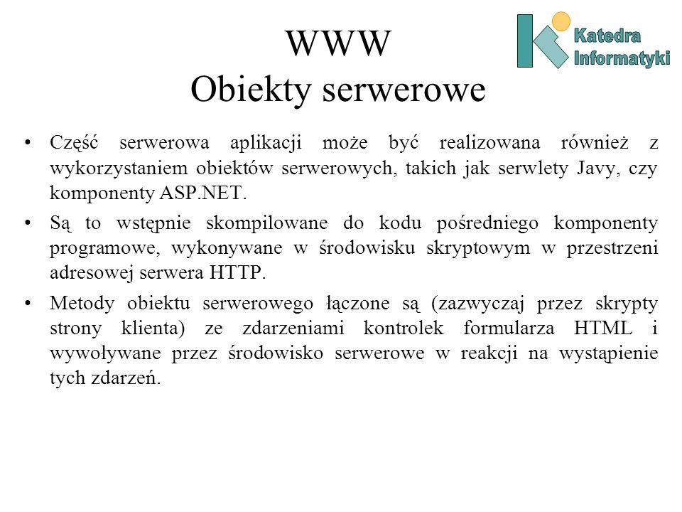 WWW Obiekty serwerowe Katedra. Informatyki.