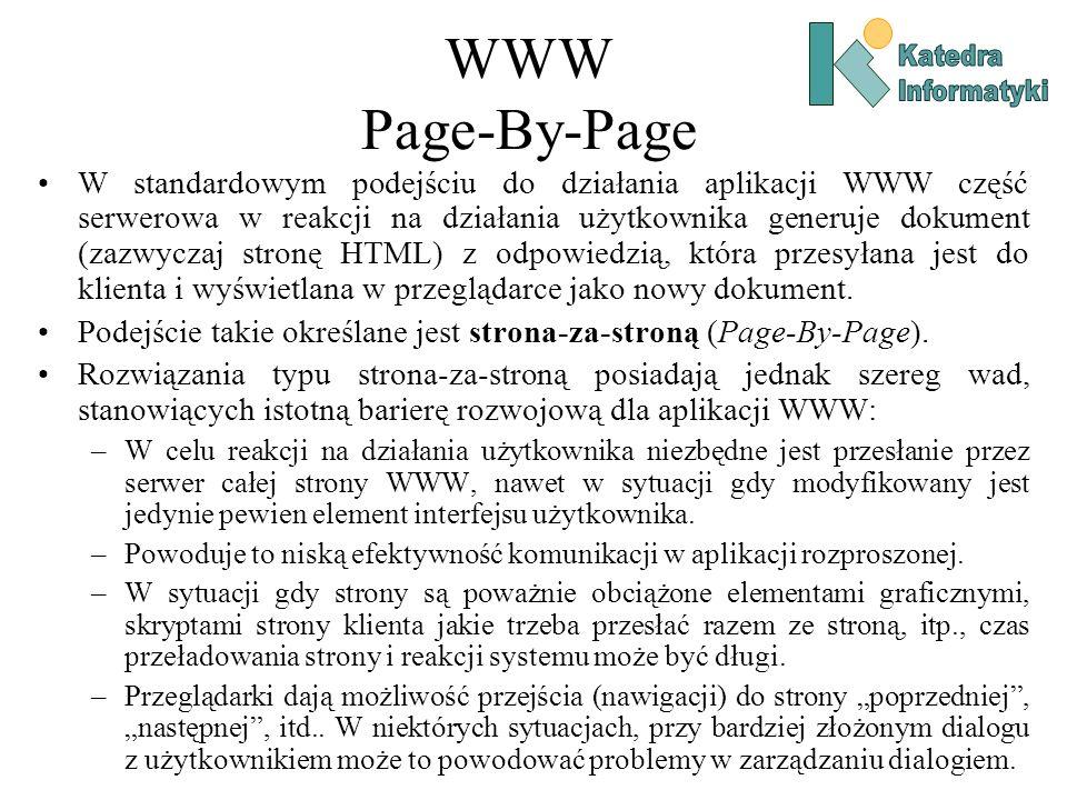 WWW Page-By-Page Katedra. Informatyki.