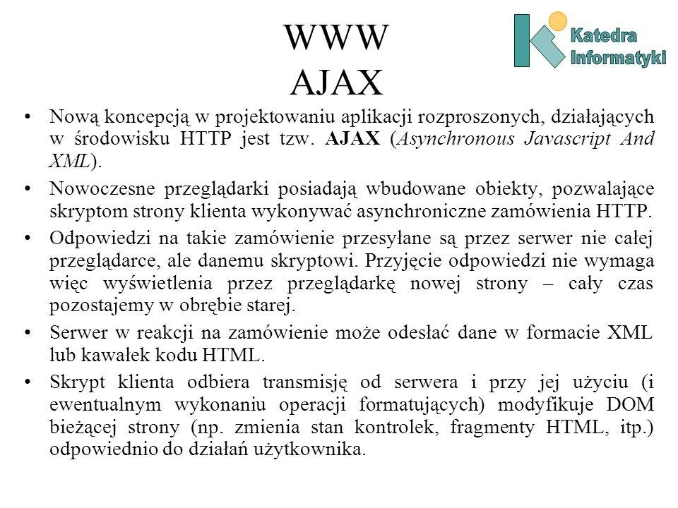 WWW AJAX Katedra. Informatyki.