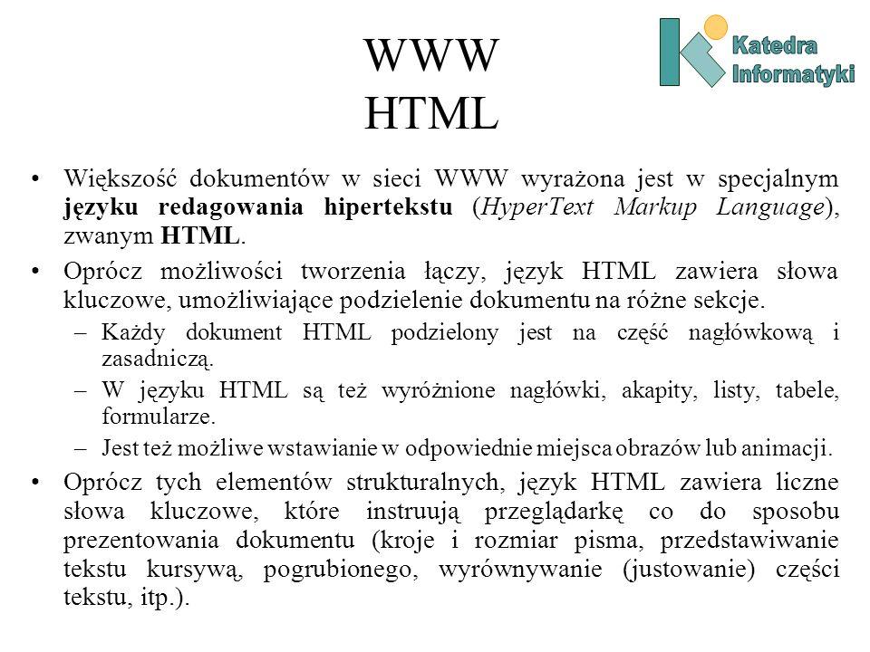 WWW HTML Katedra. Informatyki.