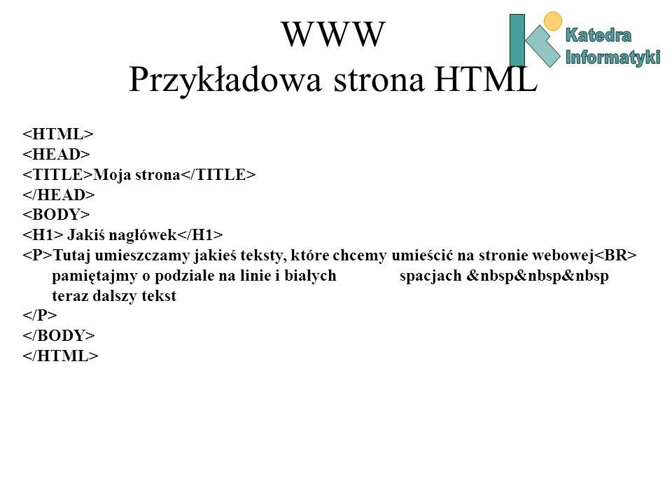 WWW Przykładowa strona HTML
