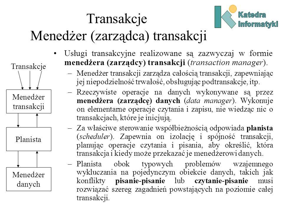 Transakcje Menedżer (zarządca) transakcji