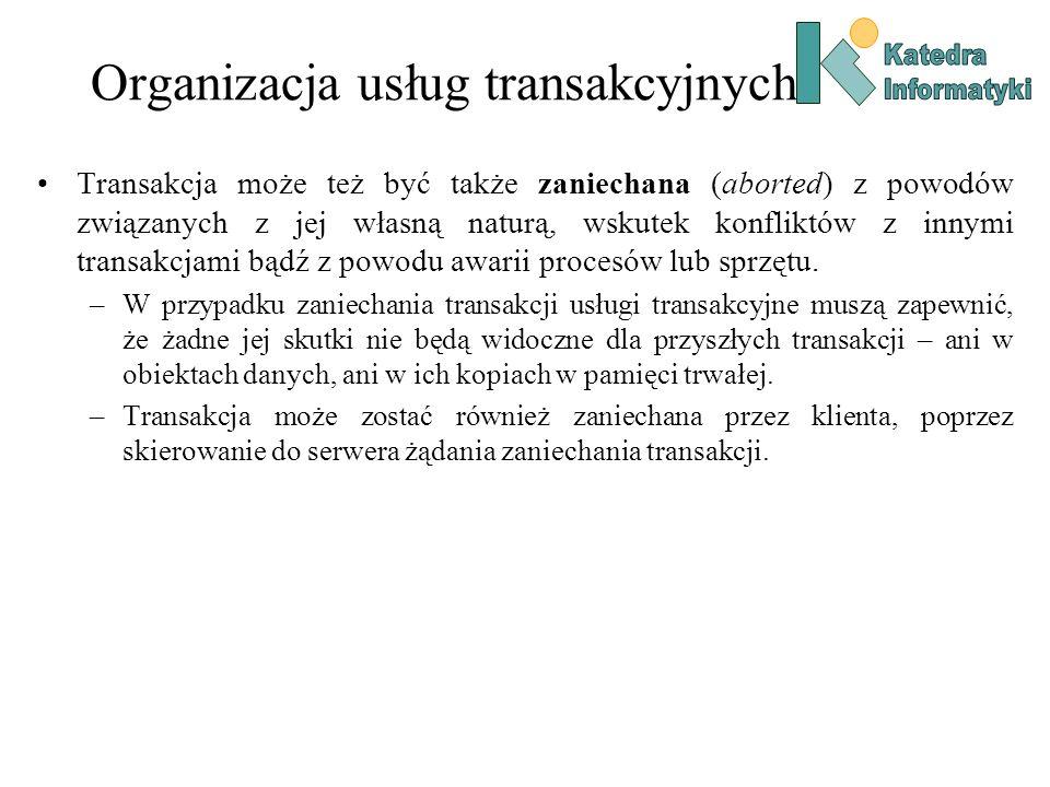 Organizacja usług transakcyjnych