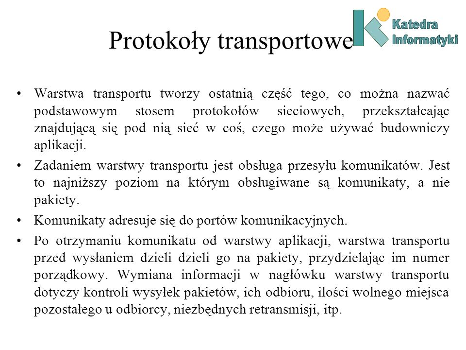 Protokoły transportowe