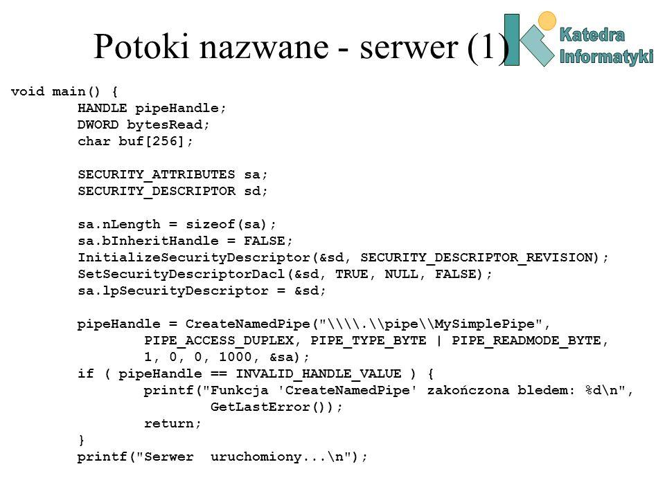 Potoki nazwane - serwer (1)