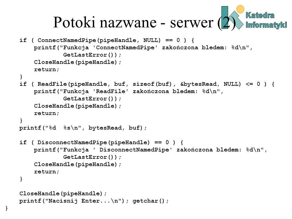 Potoki nazwane - serwer (2)