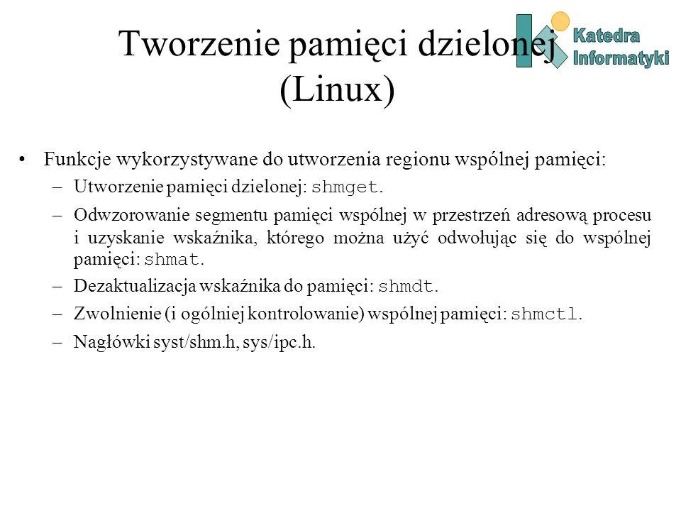 Tworzenie pamięci dzielonej (Linux)