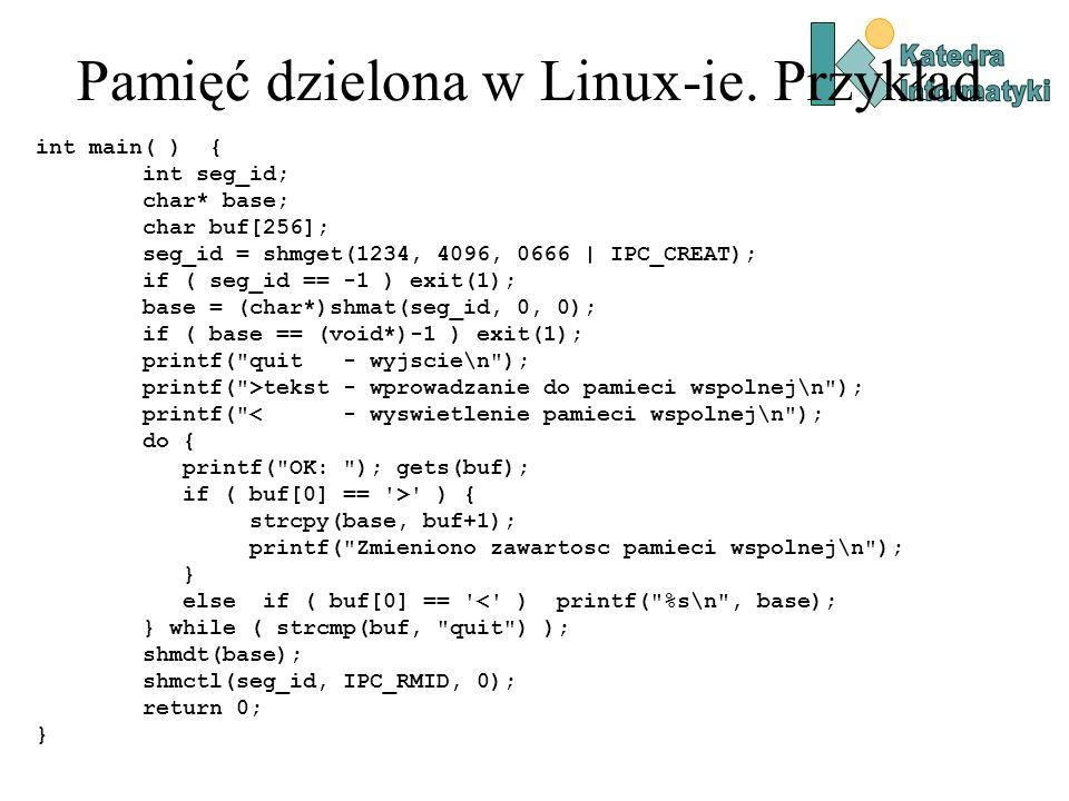 Pamięć dzielona w Linux-ie. Przykład