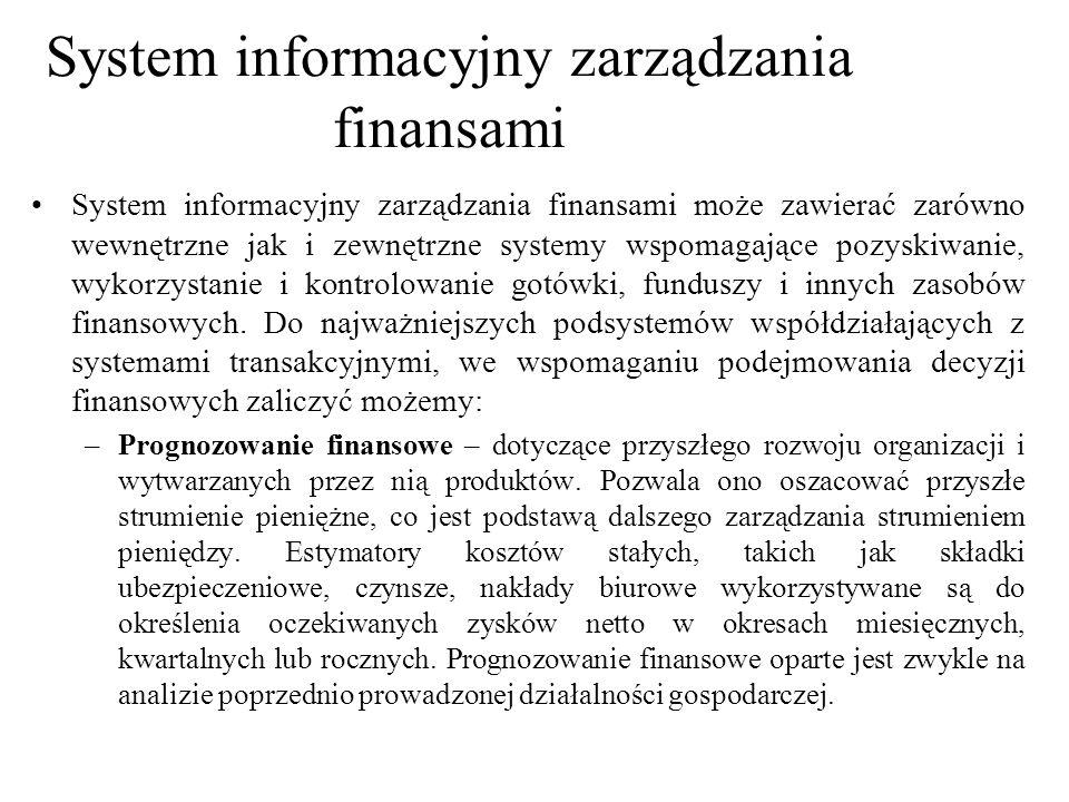 System informacyjny zarządzania finansami