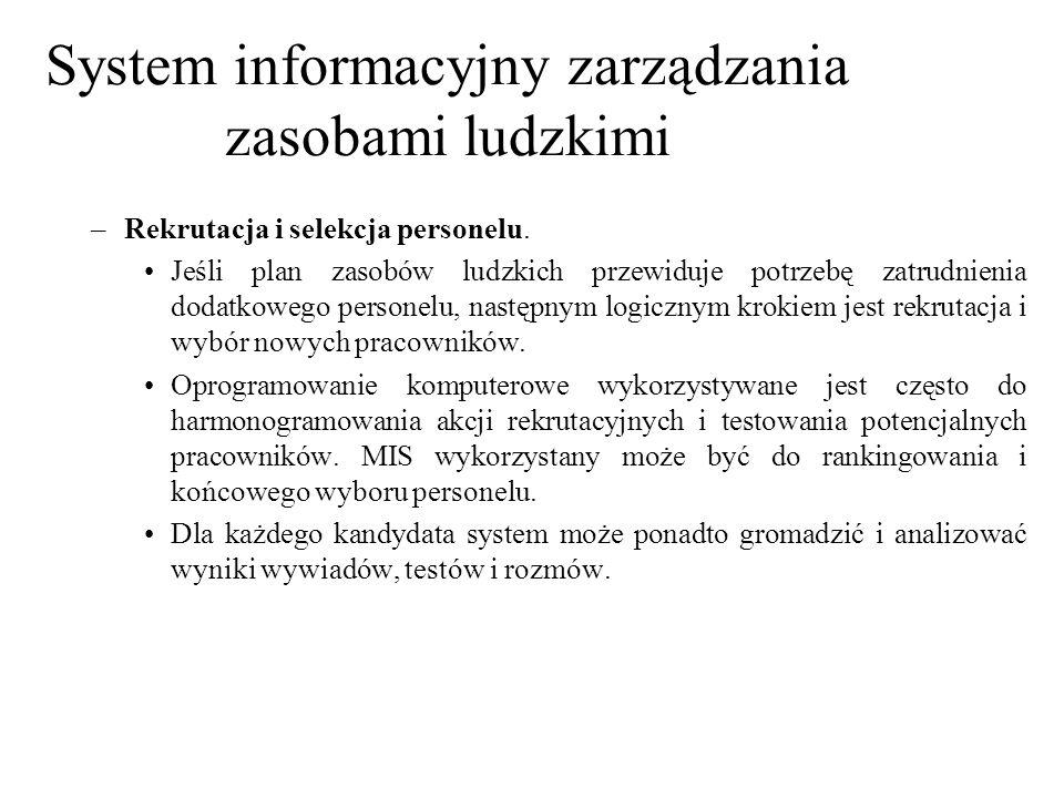 System informacyjny zarządzania zasobami ludzkimi