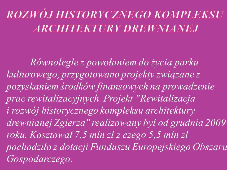 ROZWÓJ HISTORYCZNEGO KOMPLEKSU ARCHITEKTURY DREWNIANEJ