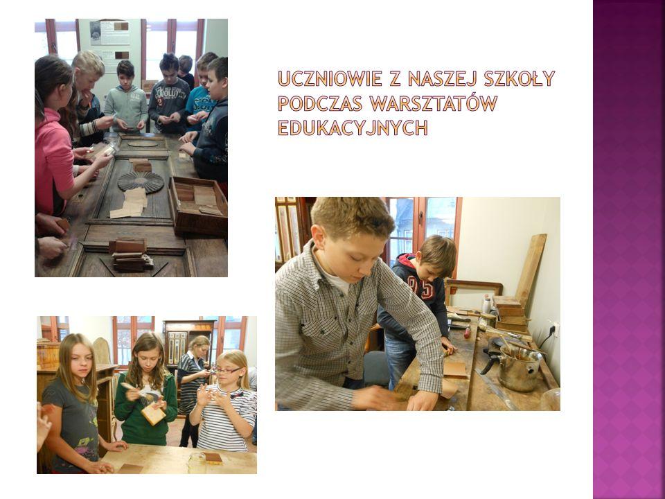Uczniowie z naszej szkoły podczas warsztatów edukacyjnych