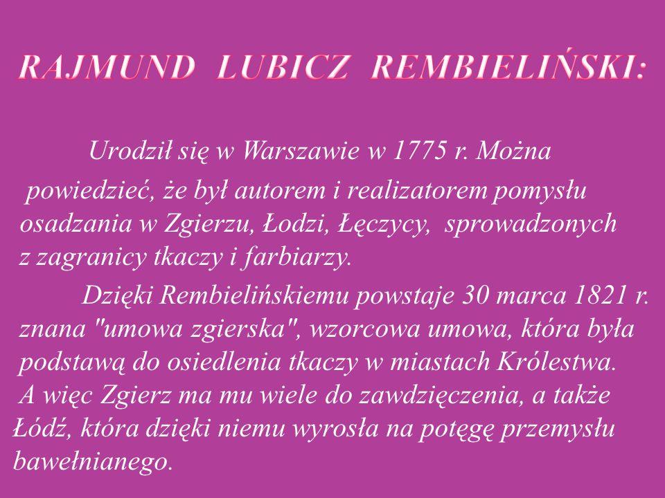 RAJMUND LUBICZ REMBIELIŃSKI: