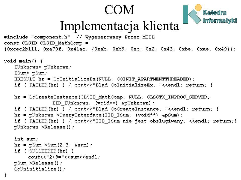 COM Implementacja klienta