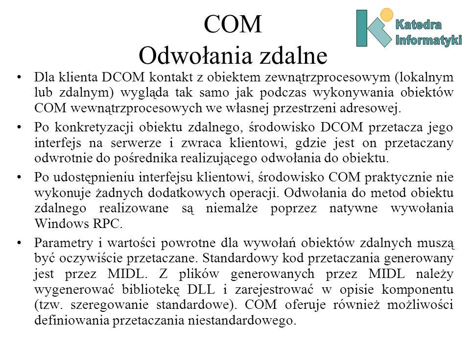 COM Odwołania zdalne Katedra. Informatyki.