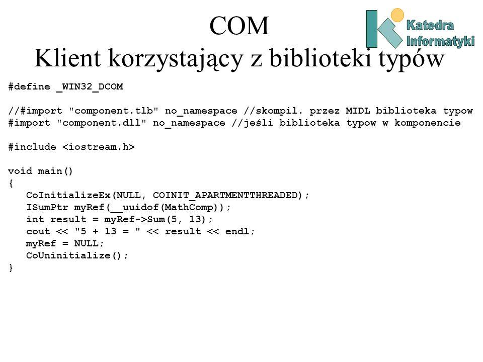 COM Klient korzystający z biblioteki typów