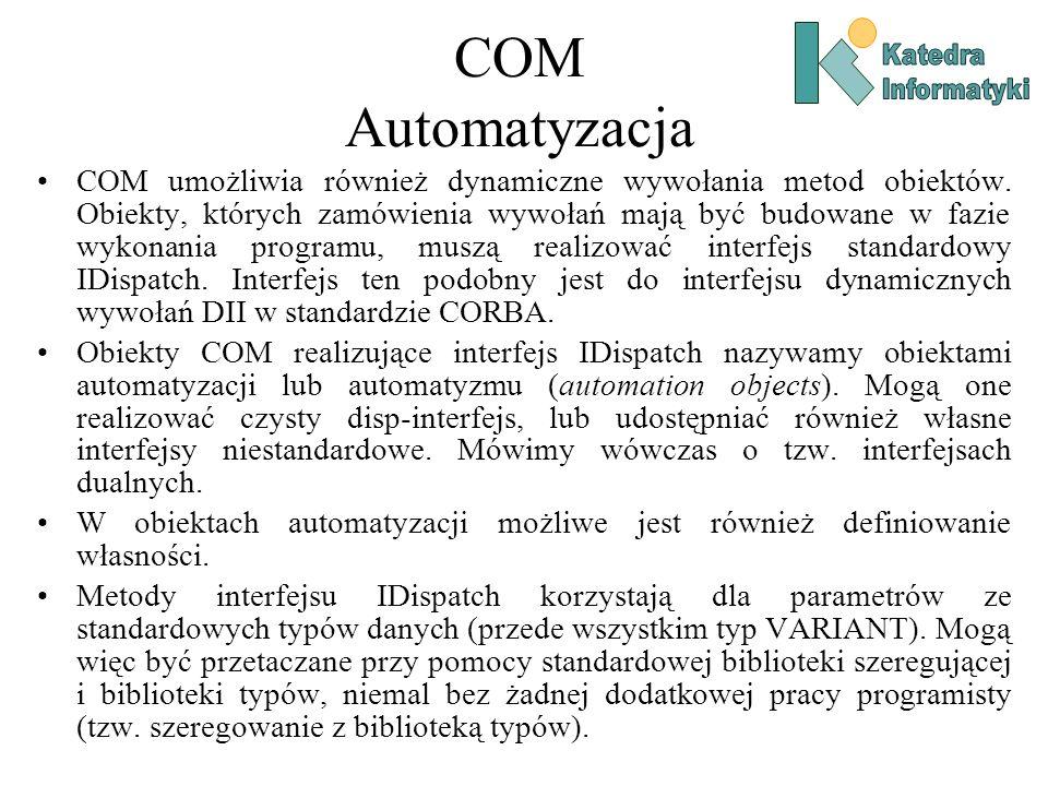 COM Automatyzacja Katedra. Informatyki.