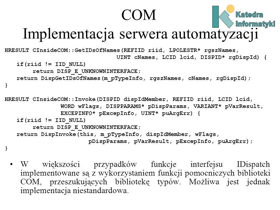 COM Implementacja serwera automatyzacji