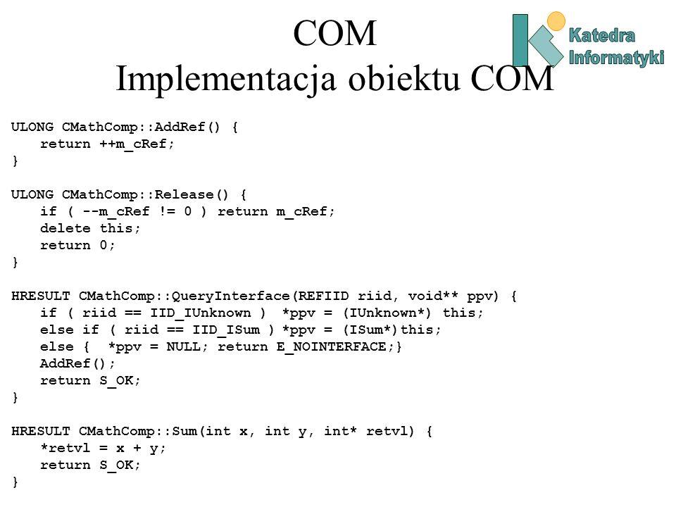 COM Implementacja obiektu COM