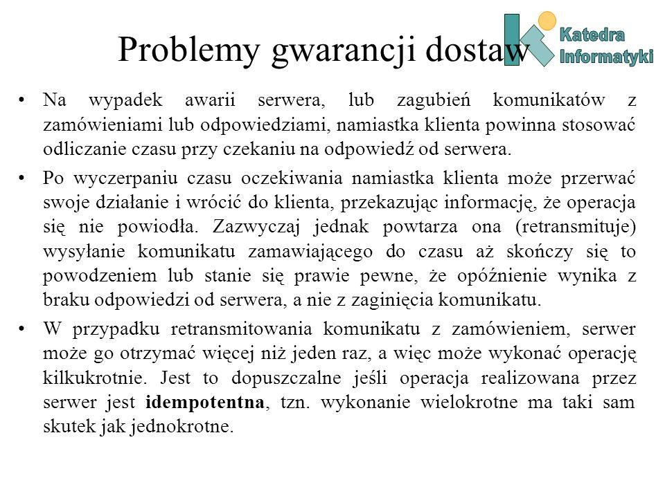 Problemy gwarancji dostaw