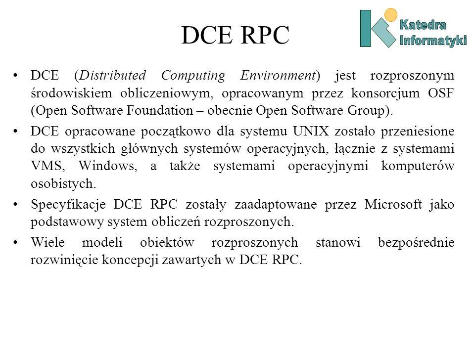 DCE RPC Katedra. Informatyki.