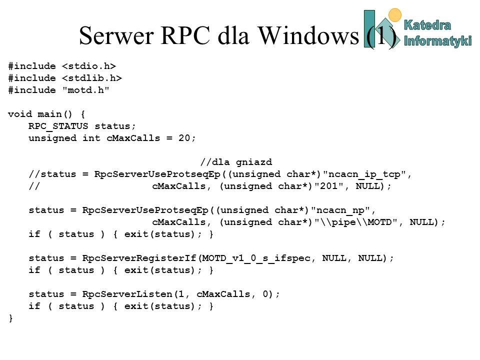 Serwer RPC dla Windows (1)