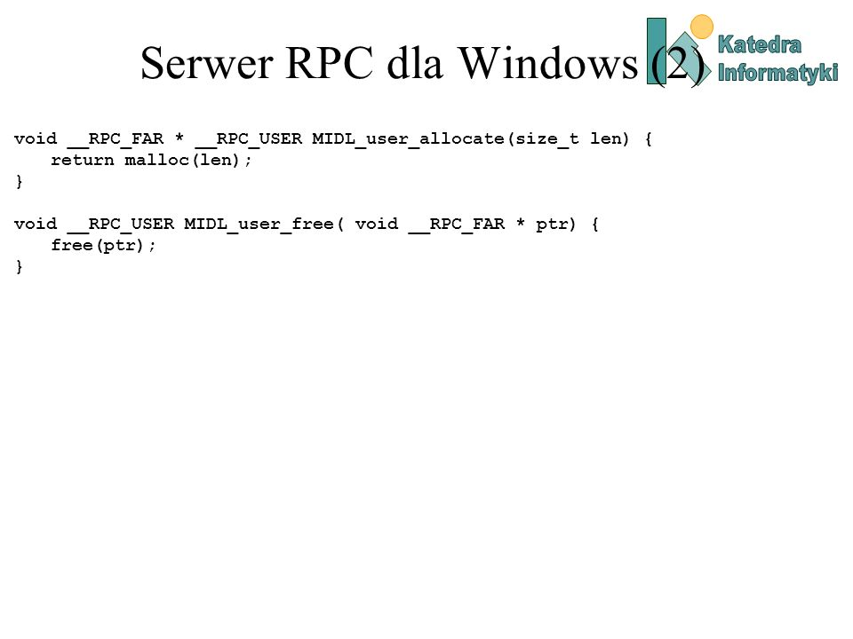Serwer RPC dla Windows (2)