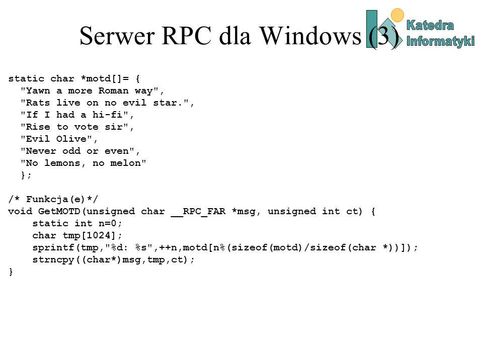 Serwer RPC dla Windows (3)