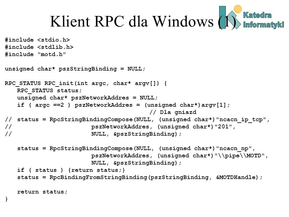Klient RPC dla Windows (1)