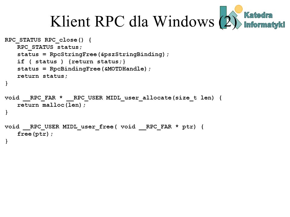 Klient RPC dla Windows (2)